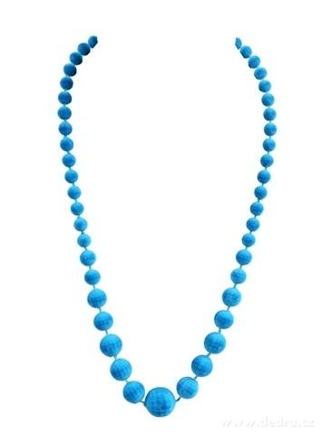 DA99594-Zamatové korále tyrkysové