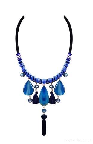 DA10721-Náhrdelník s veľkými modrými kameňmi
