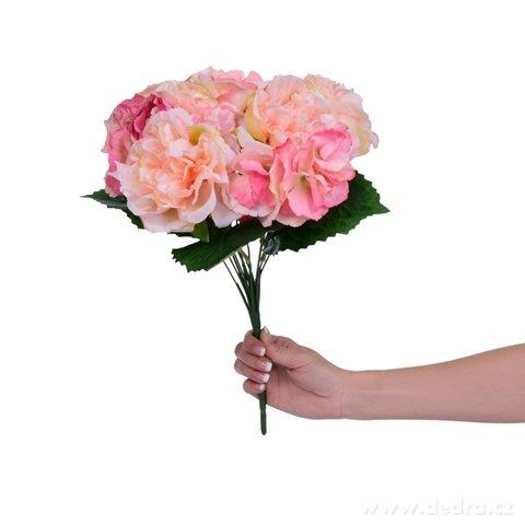 DA98311-Kyticu RUŽÍ ružový výška cca 40 cm ateliérová kvetina