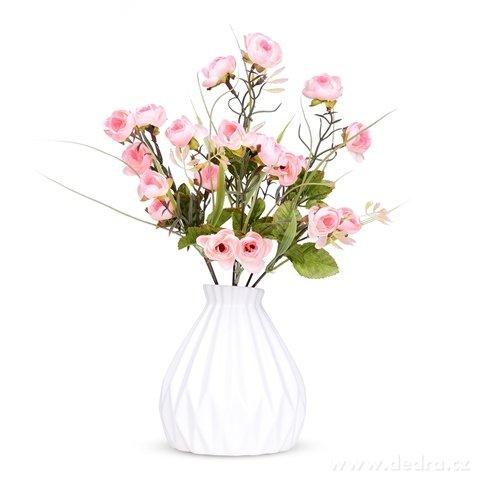 DA98401-Kytice drobných RUŽÍ ružová, výška 35 cm ateliérová kvetina