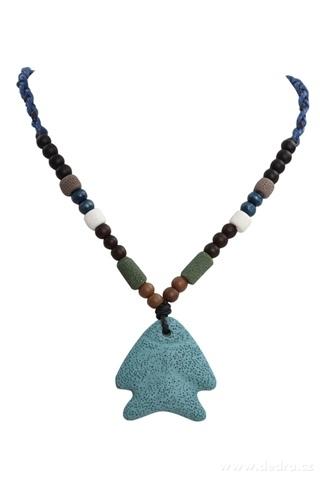 DA95682-NATURAL náhrdelník  tyrkysová ryba
