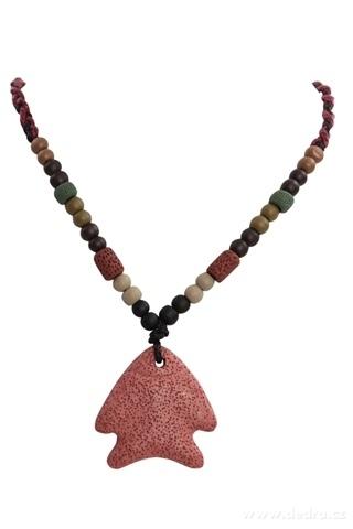 DA95683-NATURAL náhrdelník tehlová ryba