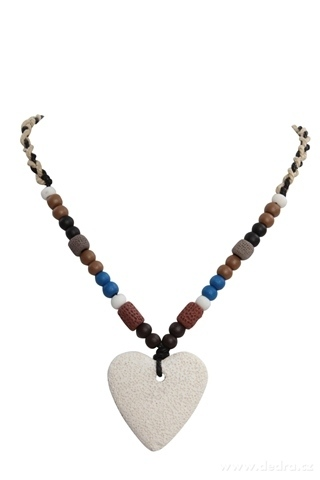 DA95692-NATURAL náhrdelník prírodné srdce