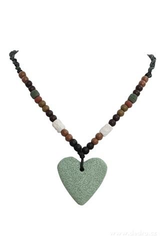 DA95694-NATURAL náhrdelník olivové srdca