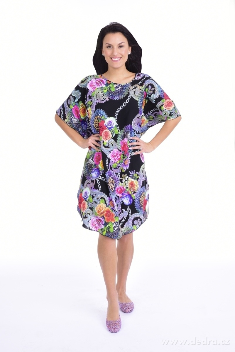 42db754b94e ADELE vzdušné šaty black multicolor - Vaše DEDRA - oficiální stránky