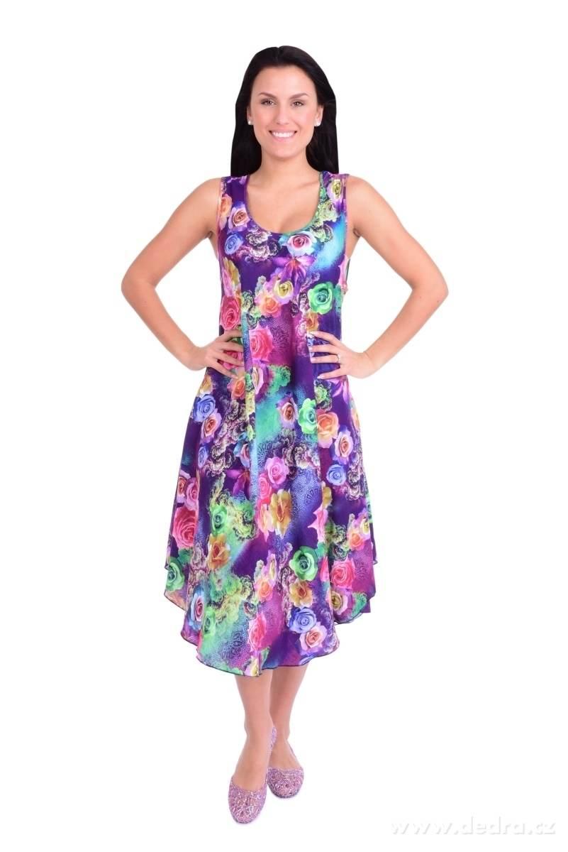 cb9f00c11e4 AGATE vzdušné šaty violet multicolor - Vaše DEDRA - oficiální stránky