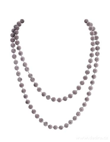 DA99603-Zamatové korále šedé