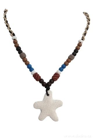 DA95701-NATURAL náhrdelník prírodné hviezdice