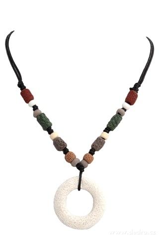 DA95712-NATURAL náhrdelník prírodné kruh