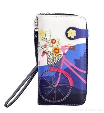 FC980121-Dámska peňaženka s aplikáciou kola modrá