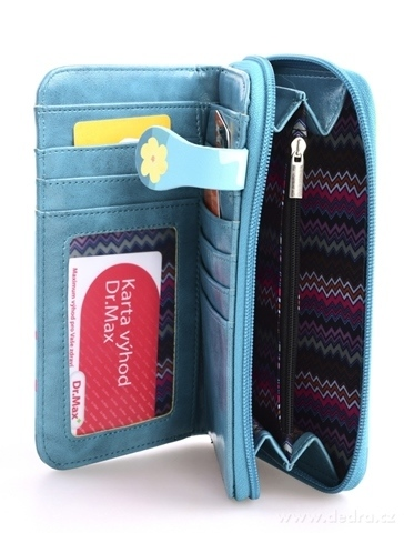 FC980123-Dámska peňaženka s aplikáciou kola tyrkysová