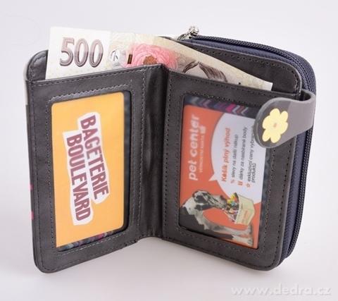 FC980112-Dámska peňaženka s aplikáciou kola šedá