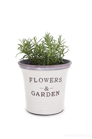 DA14621-Keramický kvetináč FLOWERS & GARDEN