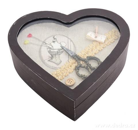 DA14712-Drevená krabica na šijacie potreby