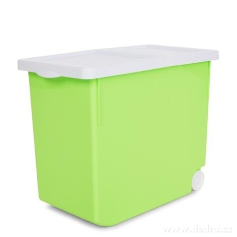 DA14441-MULTICONTAINER 16 litrov na granule pre psov a ďalšie skladovanie,  zelený