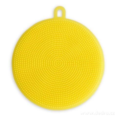 DA98261-SILISASANKA na umývanie silikónová hubka obojstranná, žltá