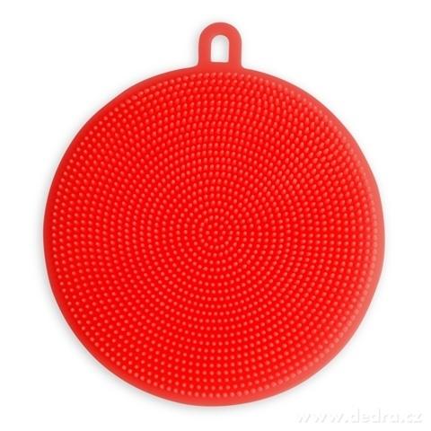 DA98263-SILISASANKA na umývanie silikónová hubka obojstranná, červená
