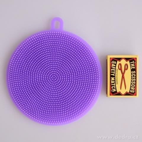 DA98264-SILISASANKA na umývanie silikónová hubka obojstranná, fialová