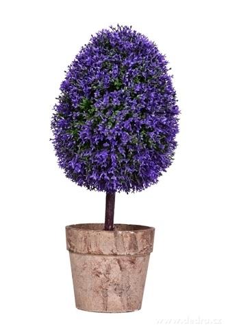 DA9842-Stromček s fialovými kvietkami ateliérový stromček