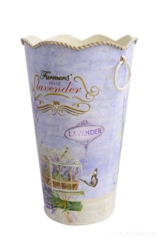 DA97713-Dekoratívna kovová váza LAVENDER väčšiu