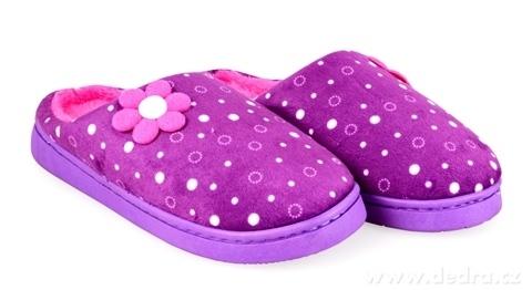 FC19561-Hrejivé papuče KIKISTAR® domáci, vo fialovo ružové