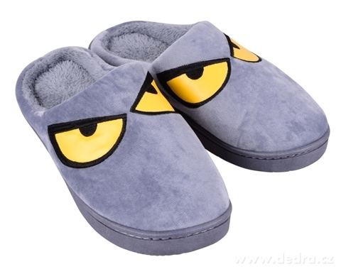 FC19541-Hrejivé papuče REBELITO® domáci, v šedej farbe