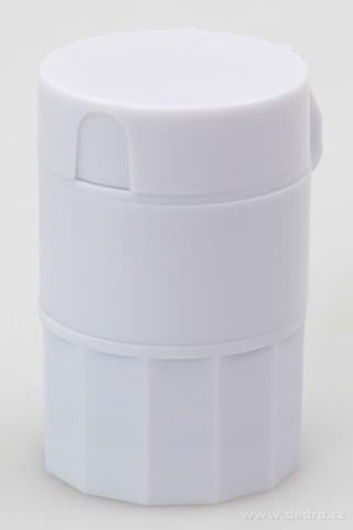 DA1207-Drvič a deliacou liekov sa zásobníkom 4 v 1 pr. 4 cm, v. 6,5 cm