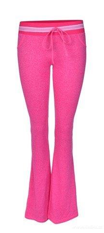 FC18191-Dámske nohavice športové ružová melange
