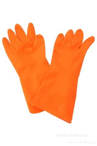 DA2742-Ochranné rukavice gumové, oranžové