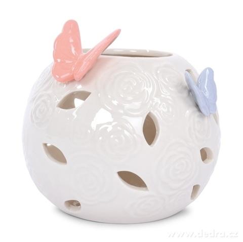 DA17516-Svietnik na čajové sviečky BUTTERFLY COLLECTION Priemer 12 x v 10 cm