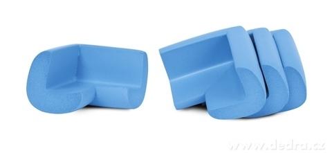 DA17481-4 ks NÁRAZNÍK na rohy nábytku nebesky modrý