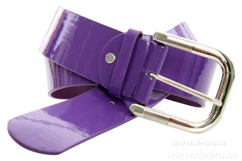 DA3116-Dámsky opasok fialový lesklý dĺžka: 125 cm
