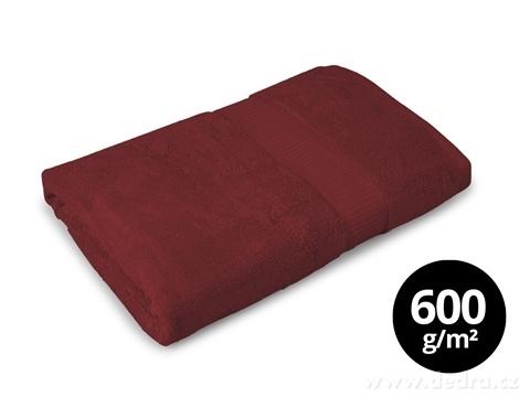 FC17025-BAMBOO osuška s elegantnou bordúrou čokoládová