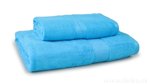 FC17024-BAMBOO osuška s elegantnou bordúrou modrá