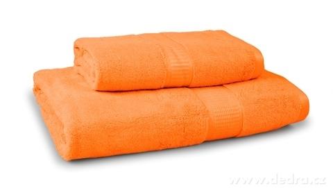 FC17022-BAMBOO osuška s elegantnou bordúrou oranžová