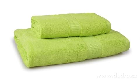FC17021-BAMBOO osuška s elegantnou bordúrou zelená