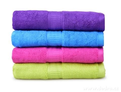 FC17017-BAMBOO veľký uterák s elegantnou bordúrou fialový