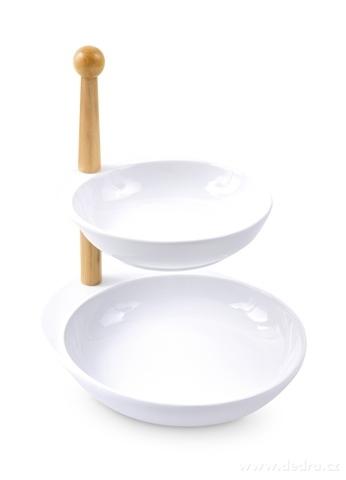 DA16901-Servírovací etažér dvojposchodový porcelánový