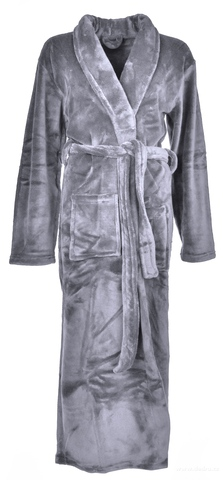 FC16461-LAGOON dlhý župan šedý