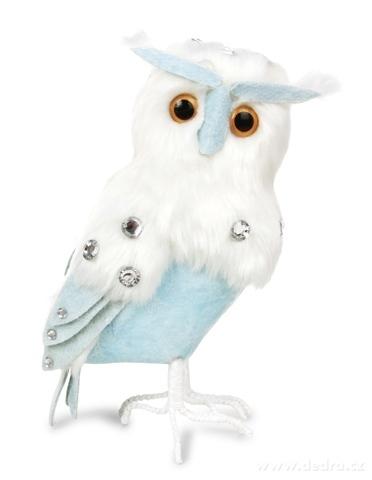 DA16226-23 cm veľká snežná sova WHITE & BLUE