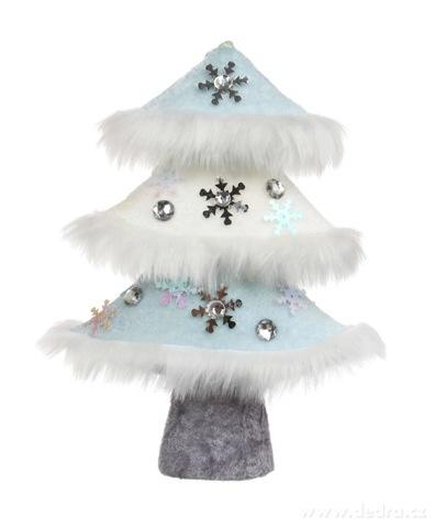 DA16225-20 cm dekoratívne stromček WHITE & BLUE