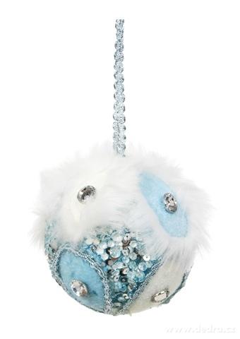 DA16221-Veľká ozdobná guľa WHITE & BLUE