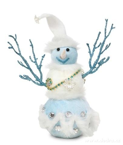 DA16213-29 cm vysoký snehuliak WHITE & BLUE