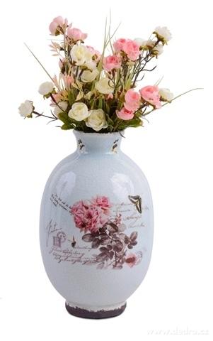 DA13142-Keramická váza s dobovou patinou výška 28 cm