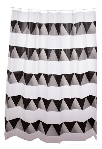 FC14317-Kúpeľňový záves s dekoratívnym potlačou black & white