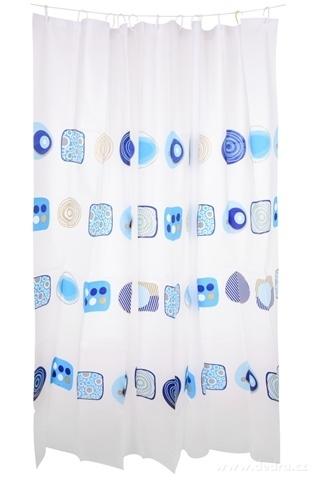 FC14316-Kúpeľňový záves s dekoratívnym potlačou blue ornaments