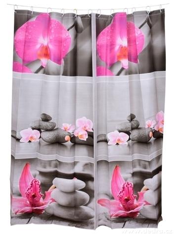 FC14315-Kúpeľňový záves s dekoratívnym potlačou zen harmony