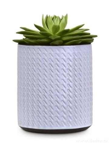 DA13362-Keramická váza alebo obal na kvetináč smotanová