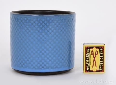 DA13361-Keramická váza alebo obal na kvetináč svetlo modrá