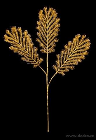 DA98562-Zlatá papraď 70 cm na vianočné dekorácie